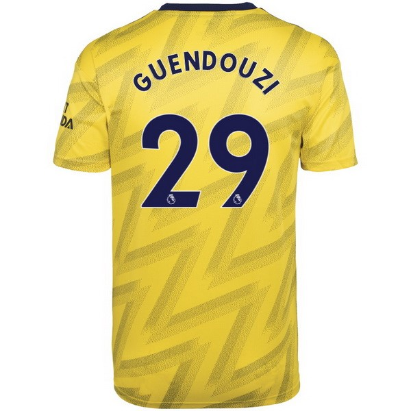 Maillot Foot Arsenal NO.29 Guendouzi 2ª 2019-2020 Jaune